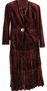 Double D Ranchwear Double D Ranchwear Velour Jacket and Broomstick Skirt with Conch Trim