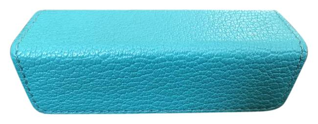 Item - Blue Lipstick Holder Case with Mirror Rare Cosmetic Bag