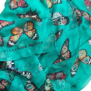 Alexander McQueen New!! x-large silk scarf shawl with butterflies