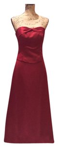 Alfred Angelo Burgundy Saten Formal Bridesmaid/Mob Dress Size 4 (S)