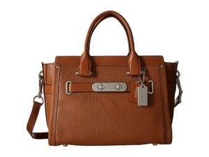 Coach Swagger Carryall 27 Satchel in Saddle