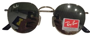 Ray-Ban Ray Ban RB3447 Round Sunglasses SILVER METAL w SILVER FLASH MIRROR