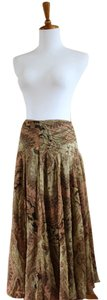 Anne Klein Maxi Silk Patterned Skirt Multicolored