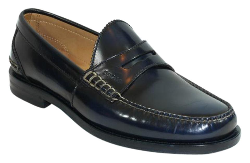 4c177c4f7fe Gucci Blue 368442 Men s Polished Leather Penny Loafer Us9 Flats Size ...