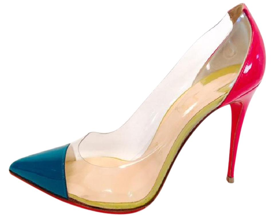 4a7f9ce873 Christian Louboutin Pink Green De Bout 40it Pigalle Patent Leather Pvc High  Heel Red Sole Lady Pumps Size EU 40 (Approx. US 10) Regular (M, B) - Tradesy
