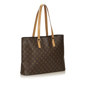 Louis Vuitton Shopping Shoulder Monogram Tote in Brown