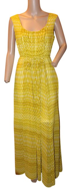 Item - Gold Yellow Scoopneck Long Casual Maxi Dress Size 6 (S)