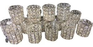 Crystal Votive Candle Holders Set Of 19 Shipping Included!