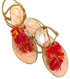 Aquazzura Thing Flat Red Sandals