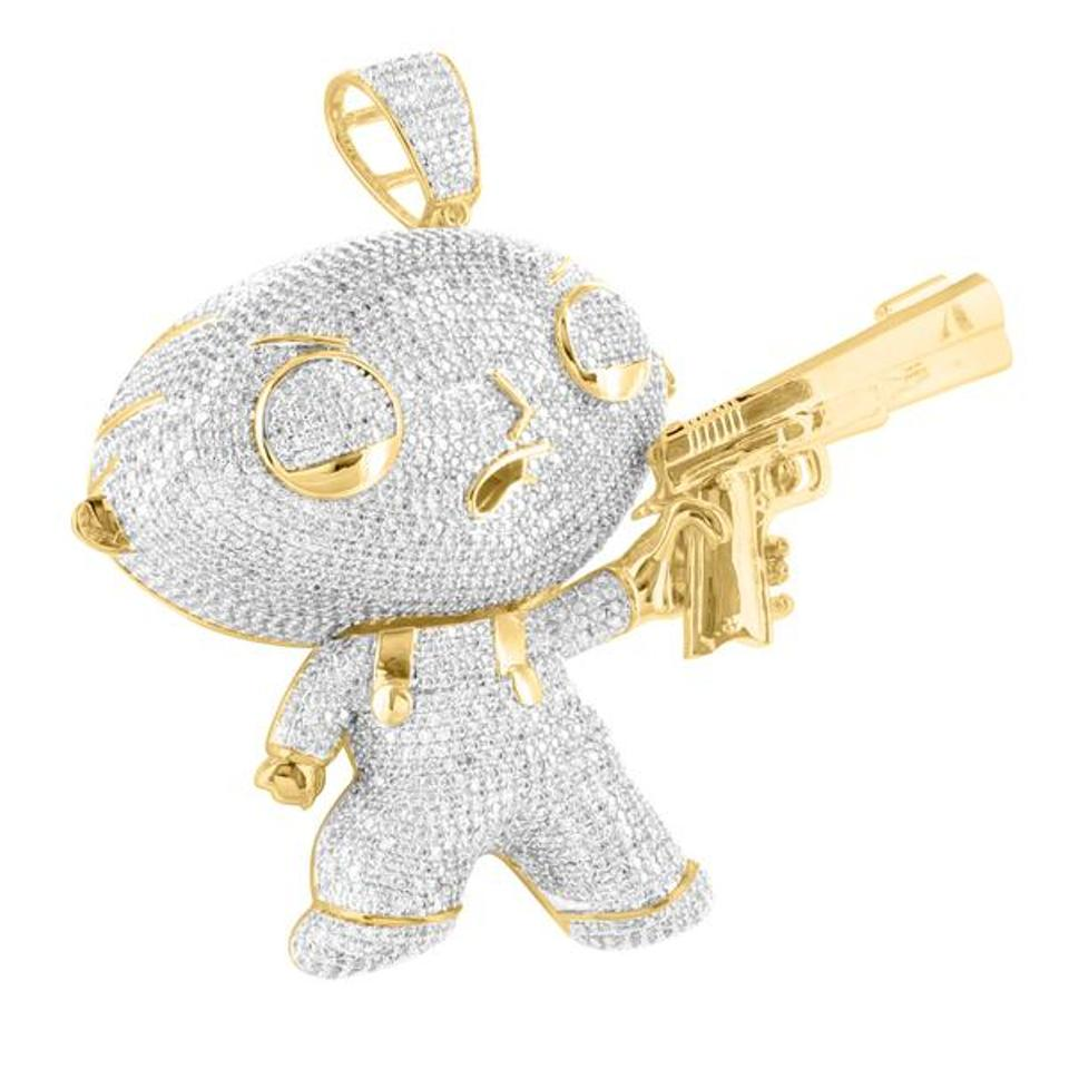 diamond bling cartoon custom on finish labs lab square images pants character best spongebob pendant gold masterofbling hiphop