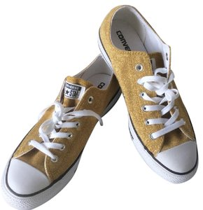 Converse New With Tags Gold Metallic Athletic