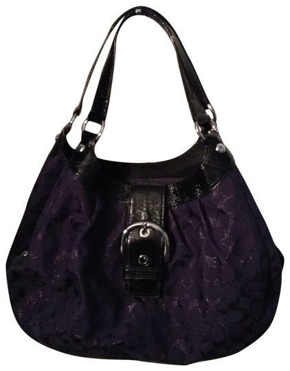 Preload https://item4.tradesy.com/images/coach-blue-and-black-hobo-bag-21693-0-1.jpg?width=440&height=440