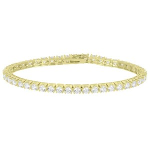Master Of Bling 14k White Gold Finish 1 Row Tennis Bracelet Womens Fashion