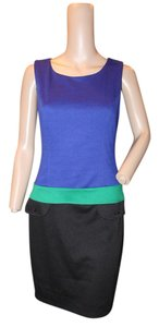 Kenar short dress COLOR BLOCK BLUE, BLACK, GREEN on Tradesy