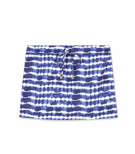Tory Burch Swim Tye Dye Coverup Beach Mini Skirt blue