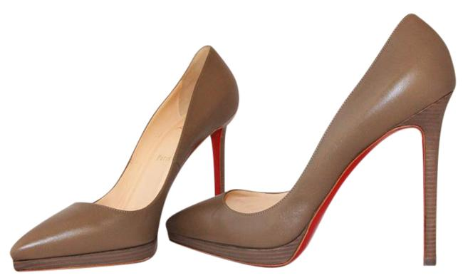 Christian Louboutin Taupe New Pigalle Plato Leather Platform 120 High Heel Red Lady Fashion Pumps Size EU 41 (Approx. US 11) Regular (M, B) Christian Louboutin Taupe New Pigalle Plato Leather Platform 120 High Heel Red Lady Fashion Pumps Size EU 41 (Approx. US 11) Regular (M, B) Image 2