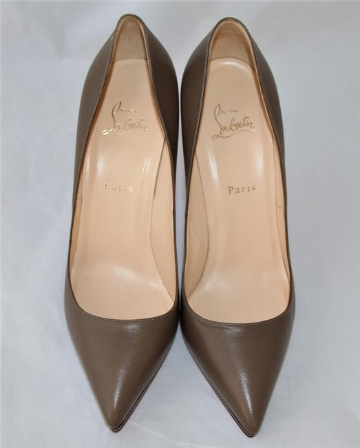 Christian Louboutin Taupe New Pigalle Plato Leather Platform 120 High Heel Red Lady Fashion Pumps Size EU 41 (Approx. US 11) Regular (M, B) Christian Louboutin Taupe New Pigalle Plato Leather Platform 120 High Heel Red Lady Fashion Pumps Size EU 41 (Approx. US 11) Regular (M, B) Image 4