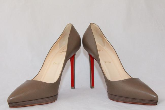 Christian Louboutin Taupe New Pigalle Plato Leather Platform 120 High Heel Red Lady Fashion Pumps Size EU 41 (Approx. US 11) Regular (M, B) Christian Louboutin Taupe New Pigalle Plato Leather Platform 120 High Heel Red Lady Fashion Pumps Size EU 41 (Approx. US 11) Regular (M, B) Image 5