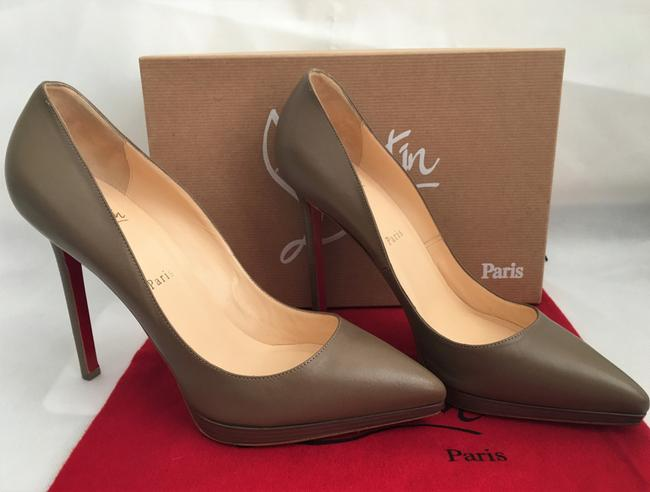 Christian Louboutin Taupe New Pigalle Plato Leather Platform 120 High Heel Red Lady Fashion Pumps Size EU 41 (Approx. US 11) Regular (M, B) Christian Louboutin Taupe New Pigalle Plato Leather Platform 120 High Heel Red Lady Fashion Pumps Size EU 41 (Approx. US 11) Regular (M, B) Image 6