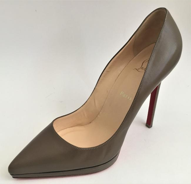 Christian Louboutin Taupe New Pigalle Plato Leather Platform 120 High Heel Red Lady Fashion Pumps Size EU 41 (Approx. US 11) Regular (M, B) Christian Louboutin Taupe New Pigalle Plato Leather Platform 120 High Heel Red Lady Fashion Pumps Size EU 41 (Approx. US 11) Regular (M, B) Image 7