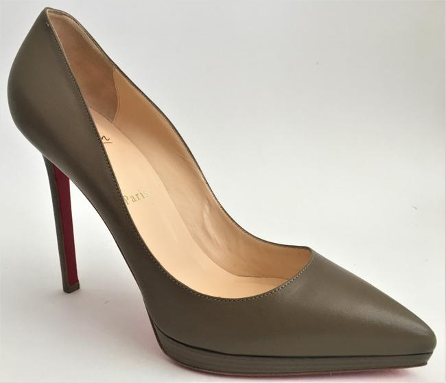 Christian Louboutin Taupe New Pigalle Plato Leather Platform 120 High Heel Red Lady Fashion Pumps Size EU 41 (Approx. US 11) Regular (M, B) Christian Louboutin Taupe New Pigalle Plato Leather Platform 120 High Heel Red Lady Fashion Pumps Size EU 41 (Approx. US 11) Regular (M, B) Image 8