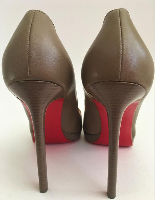 Christian Louboutin Taupe New Pigalle Plato Leather Platform 120 High Heel Red Lady Fashion Pumps Size EU 41 (Approx. US 11) Regular (M, B) Christian Louboutin Taupe New Pigalle Plato Leather Platform 120 High Heel Red Lady Fashion Pumps Size EU 41 (Approx. US 11) Regular (M, B) Image 9