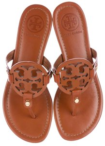 ea81d10609649c Tory Burch Miller Sandal Patent Leather.TORY BURCH Miller Logo Flat ...