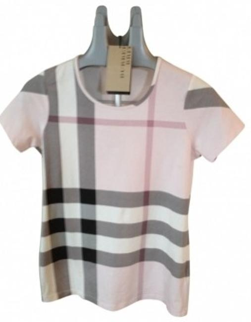 Preload https://item5.tradesy.com/images/burberry-ice-pink-check-classic-pattern-tee-shirt-size-8-m-21694-0-0.jpg?width=400&height=650