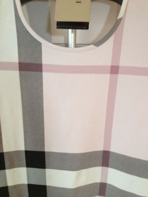 Burberry T Shirt Ice Pink Check