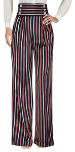 Dolce&Gabbana Americana High Waisted Sailor Striped Alice + Olivia Wide Leg Pants Blue Red White