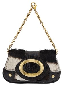 Dolce&Gabbana Pony Hair Leather Aligator Wristlet in Multi Brown