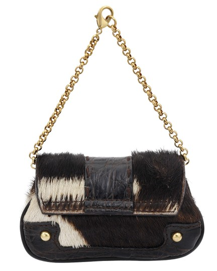 Dolce&Gabbana Pony Hair Leather Aligator Pochette Wallet Pouch Wristlet in Multi Brown Image 2