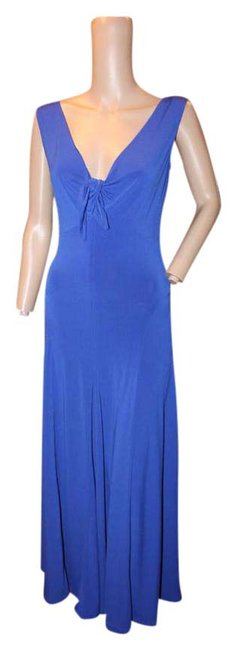 Item - Cobolt Blue Vneck Tie Front Mid-length Casual Maxi Dress Size 8 (M)