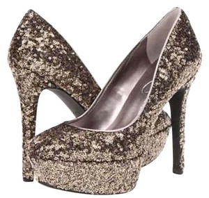 Jessica Simpson Pewter & Silver Platforms