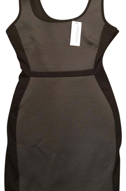 Item - Gray and Black Quilted Short Night Out Dress Size Petite 0 (XXS)