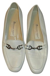Etienne Aigner Leather 7.5 White Flats