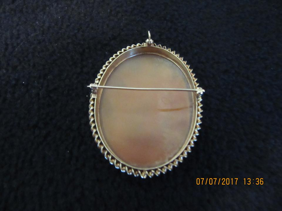 White italian cameo in 14k gold pendant and pin tradesy 123 aloadofball Image collections