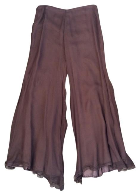 Angelo Mozzillo Flowy Italian Flare Pants Brown