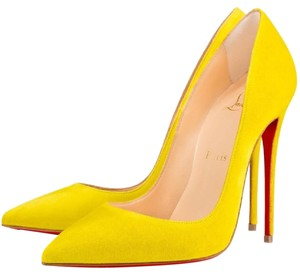 443ecfd67f4 Yellow Christian Louboutin Pumps 6 Up to 90% off at Tradesy