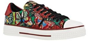 Valentino Canvas Sneakers Sneakers Butterfly Sale Multi Athletic