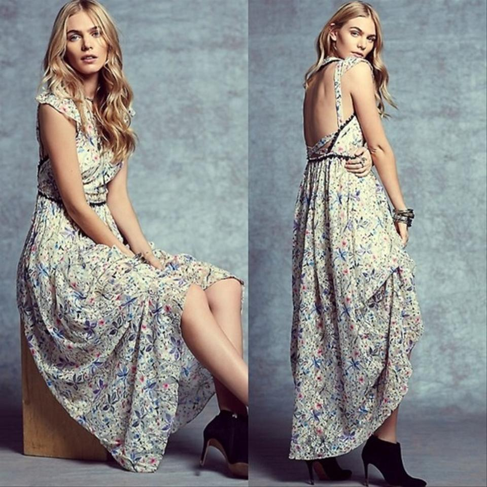 Free People Spring Garden Party Cherry Blossom Long Night Out Dress ...