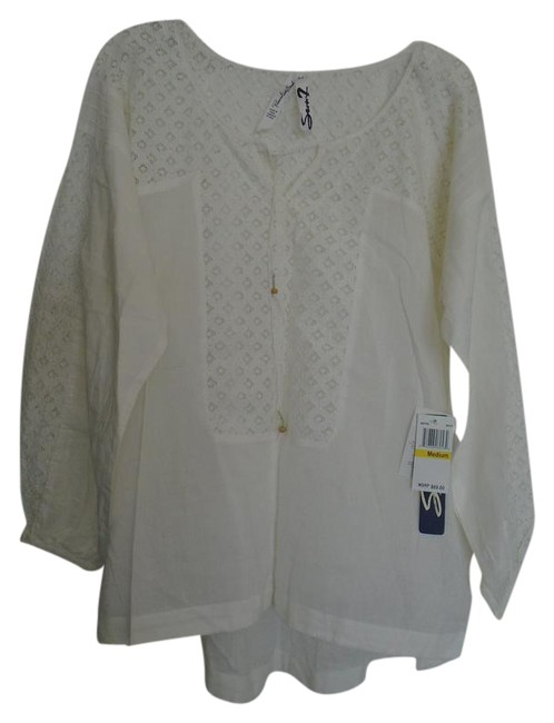 Item - White Cotton Mm7850 Blouse Size 8 (M)