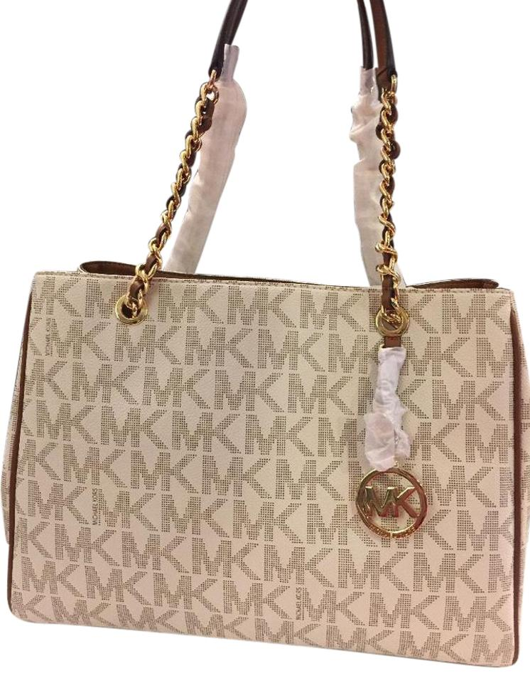 ea13848a609a Michael Kors Susannah Large Vanilla Quilted Leather Tote - Tradesy