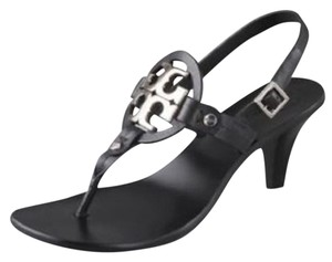 Tory Burch New In Box Leather Black Sandals