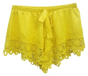 Alexis Summer Lace Shorts Yellow