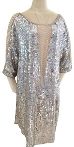 Haute Hippie Metallic Evening Wear Kaftan Dress