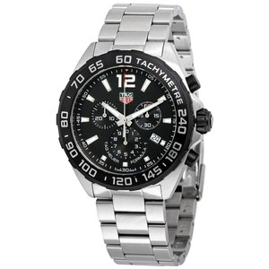 TAG Heuer Formula 1 Chronograph Black Dial Luxury Men's Watch Style Swiss Made