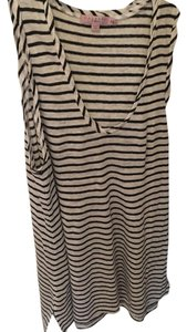 Calypso St. Barth Top black and white stripe
