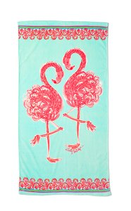 Lilly Pulitzer Brand New Minty Fresh Flamingo Beach Towel