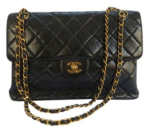 Chanel Double Sided Vintage Quilted Leather Shoulder Bag